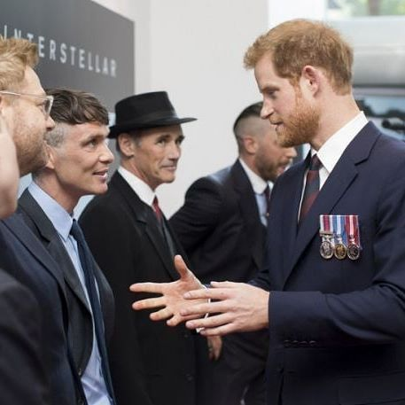 Prince Speaks To The King Cillian Murphy Cillianmurphy Prince King Princeharry Harry D Cillian Murphy Peaky Blinders Peaky Blinders Dunkirk Premiere