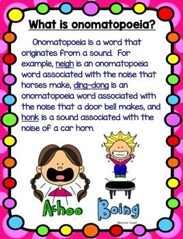 Onomatopoeia Activities and Task Cards | Reading class