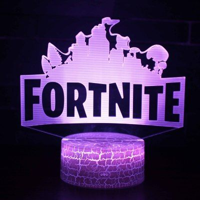 3d Fortnite Led Night Light Remote Control 16 Color Game Room Lamp Decor Gift Fortnite 3d Lamp Night Light
