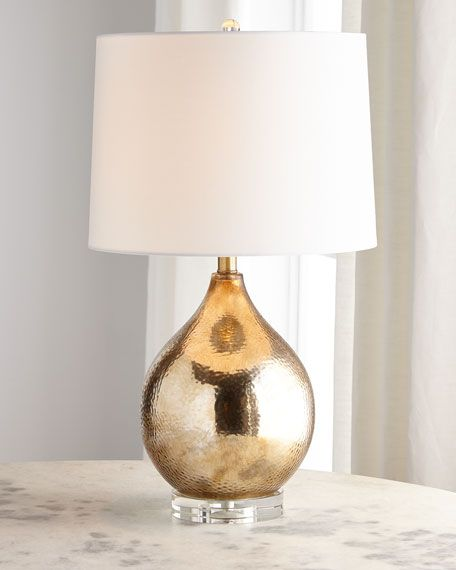 Gold Hammered Glass Lamp Lamp Glass Lamp Glass Table Lamp