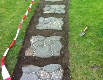 Pflastersteine Und Gartenweg Selber Machen Garten Pflaster Gartenweg Pflastersteine