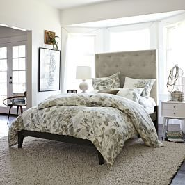 Simple Bed Frame Tall White With Images Bedroom Decor