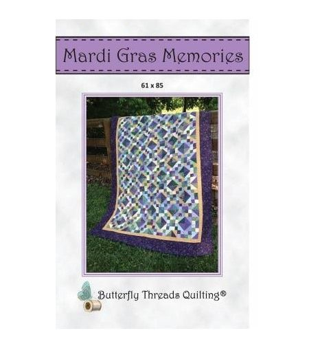 Mardi Gras Memories Butterfly Threads Quilting Pattern Quilting For Beginners Quilt Patterns Quilts