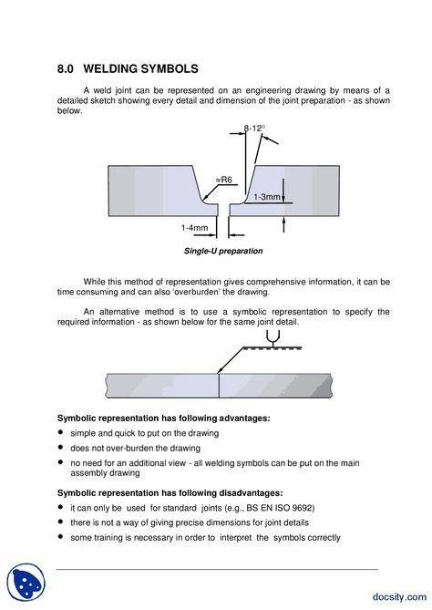 Welding Symbols Welding Technology Inspection Lecture Handout
