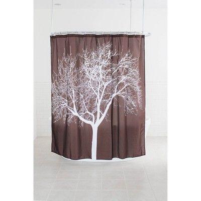 Tree Shower Curtain Chocolate Splash Home Tree Shower Curtains