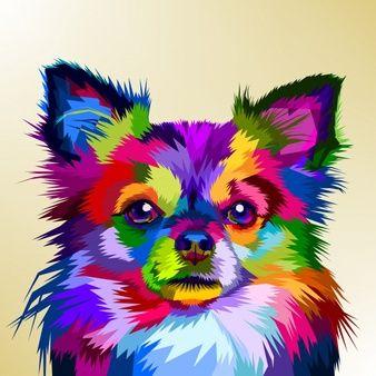 Colorful Chihuahua Dog In Pop Art Style Cuadros De Animales Pintura Perro Dibujo De Perro