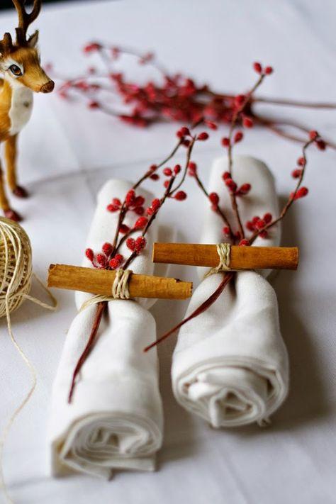 Ideas de última hora para decorar tu mesa por Navidad (centros, servilletas, manteles...) · Last minute ideas for setting your Christmas table