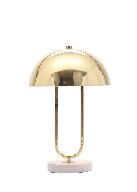 Dora Dome Table Lamp H38cm X W25cm Gold Table Lamp Bedside