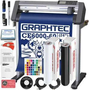 Graphtec Plus Ce6000 60 24 Inch Professional Vinyl Cutter With Bonus Oracal 651 2100 In Software And 2 Year Warranty Swing Vinyl Cutter Vinyl Swing Design