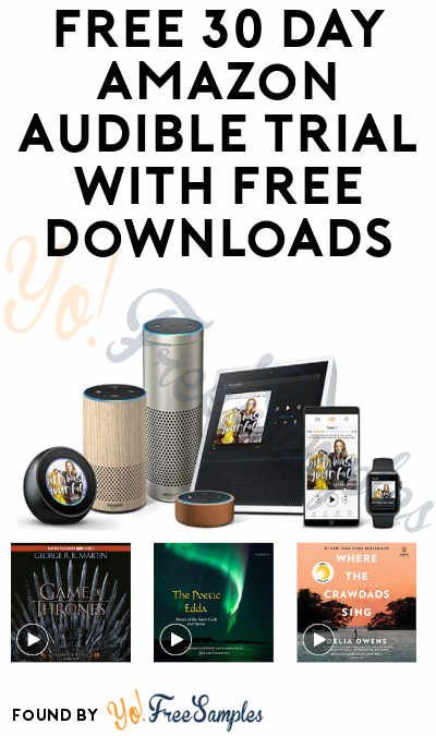 Free Amazon Audible 30 Day Trial With Free Downloads Credit Card Required Yo Free Samples Amazon Audible Audio Books Free Free Amazon Products