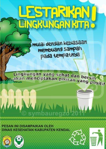 Gambar Poster Lingkungan Yang Mudah Digambar Dan Menarik ...