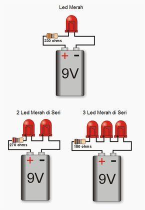 Perhitungan Resistor Untuk Led   Sandi Elektronik