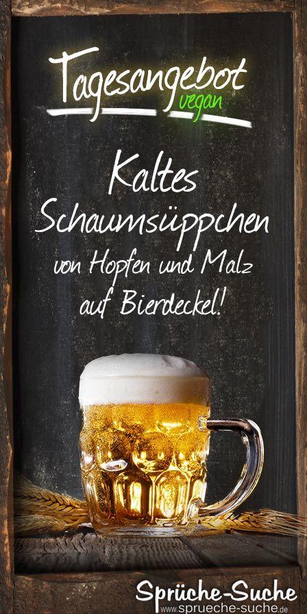Kaltes Schaumsuppchen Von Hopfen Und Malz Auf Bierdeckel Spruche Bier Bierdeckel Bier