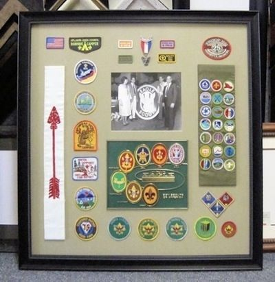 Shadow Box of Eagle Scout Awards and Memorabilia