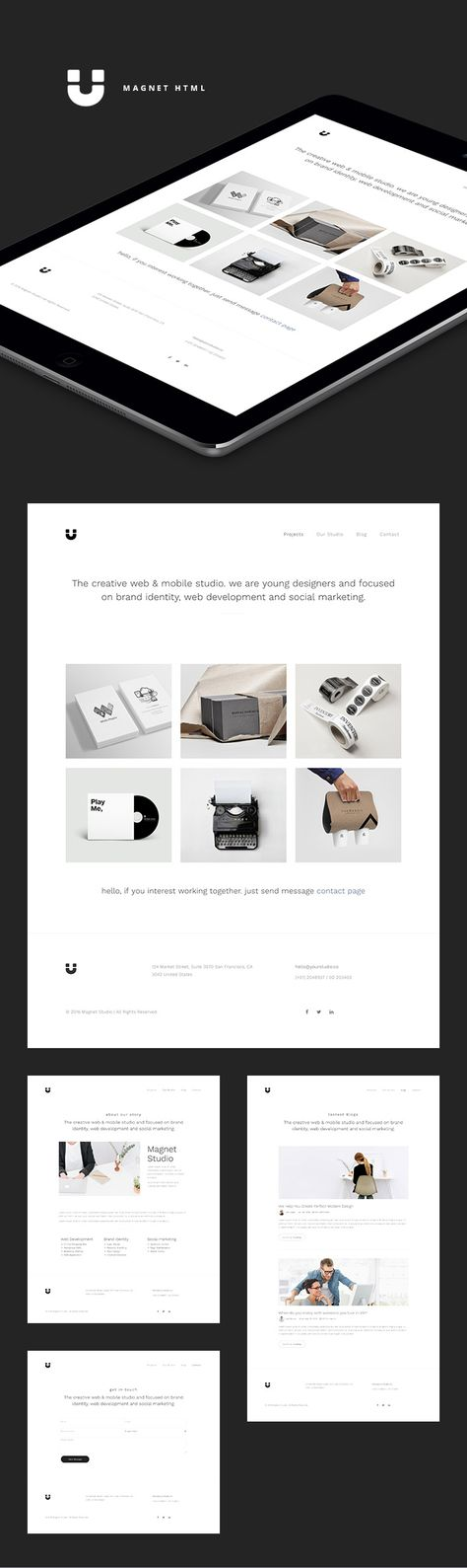 FREE} Intent - Minimal Portfolio Template by Lucid Themes on - free po template