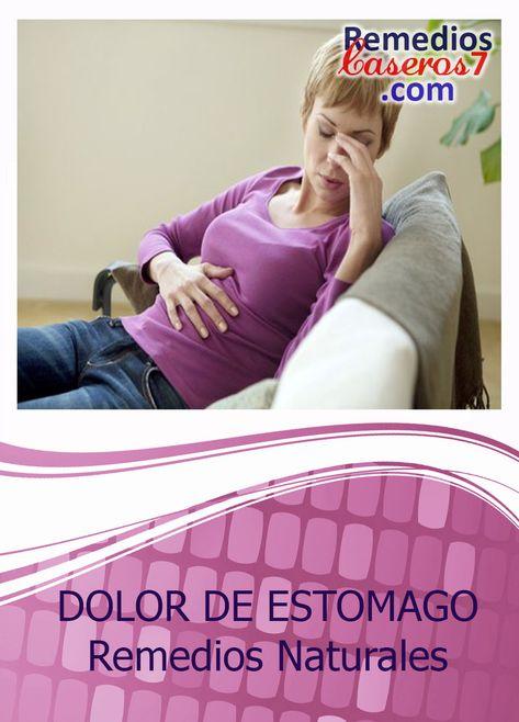 como curar un dolor de estomago