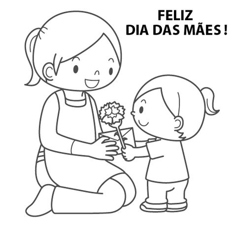 Dia Das Maes Desenhos Para Colorir Desenho Dia Das Maes