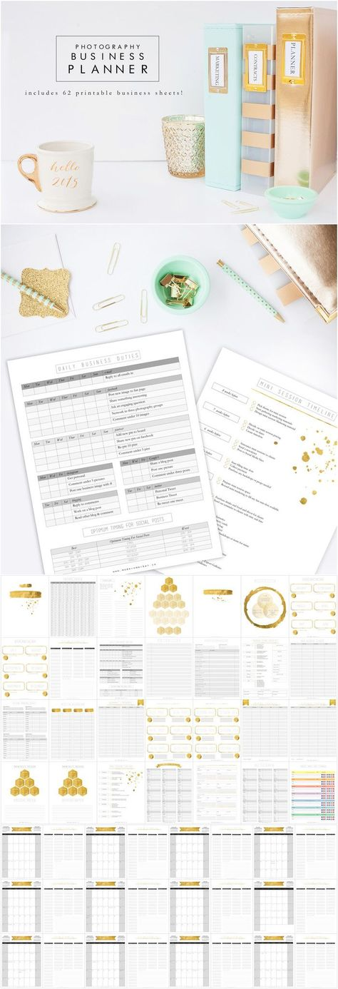 COMPLETE PHOTOGRAPHY BUSINESS PLANNER - Includes 62 printable - publicity release form
