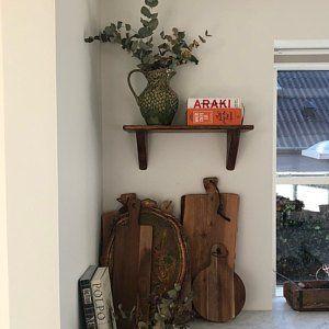 80cm Reclaimed Pallet Wood Floating Shelf Led Candle Holder