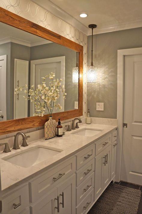 27 Badezimmerspiegel Ideen Fur Kleine Badezimmer Einzigartige Und Moderne Designs Moderne Badezimmerspiegel Badezimmer Renovieren Tolle Badezimmer