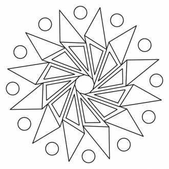 мандалы геометрические фигуры для раскрашивания раскраски
