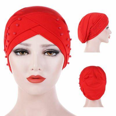 Indian Women Velvet Turban Hat Chemo Cap Islamic Headwrap Muslim Headscarf