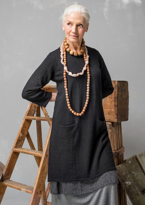 Tunic in linen/cotton – Beautiful knits – GUDRUN SJÖDÉN – Webshop, mail order and boutiques | Colorful clothes and home textiles in natural materials.