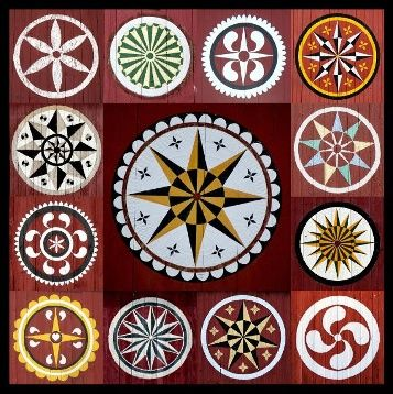 Unraveling The Hidden Meaning Of Hex Signs Barn Quilt Patterns Barn Quilt Designs Barn Signs
