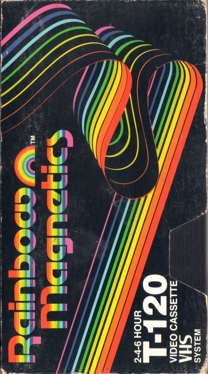 Rainbow Magnetics Blank Vhs Tape Graphic Design Posters Poster Design Graphic Design