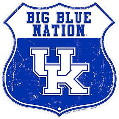 HangTime Big Blue Nation University of Kentucky Route Sign
