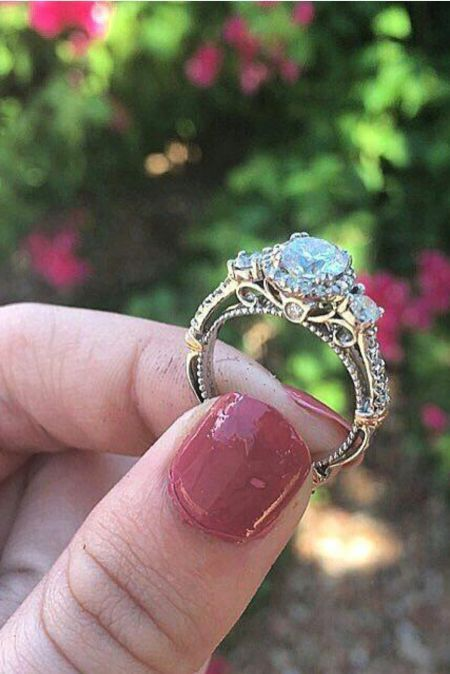 """d94e7777dd7da 18 Amazing Ornate Engagement Rings That Will Make You Say """"I Want ..."""