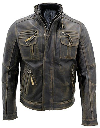 Men S Vintage Cafe Racer Stylish Leather Jackets Collections Real Leather Jacket Men Motoflavour Com Distressed Leather Jacket Cafe Racer Jacket Real Leather Jacket