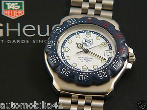 Rare superb TAG Heuer Formula one F1 Stainless Steel white blue dial WA1219. #TAGHeuer