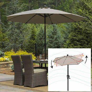 9 Wind Resistant Airflow Market Umbrella By Seasons Sentry