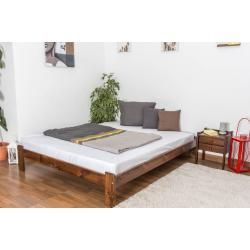 Jugendbett Kiefer Vollholz Massiv Nussfarben A10 Inkl Lattenrost Abmessung 160 X 200 Cm Steiner A10 Abmessung Holz In 2020 Guest Bed Solid Wood Bed Double Beds