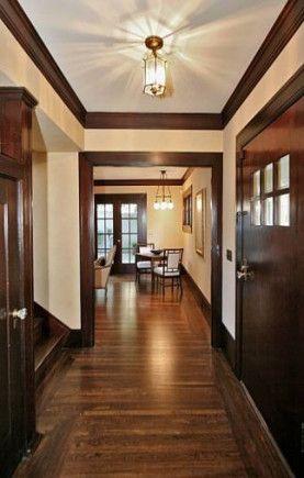 53 New Ideas Living Room Dark Walls Crown Moldings Dark Wood Trim Stained Wood Trim Wood Doors Interior