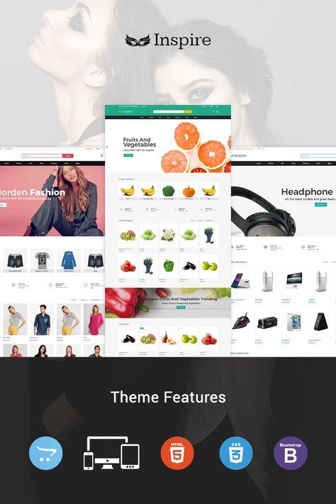 Inspire - Multipurpose Responsive OpenCart Template #96286