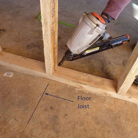 Build your walls straight, sturdy and plumb with these great tips. Minor framing mistakes can lead to wavy walls and squeaky floors. #basiccarpentry