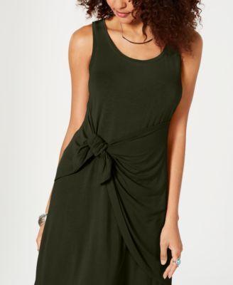 Co Petite Knot-Front Knit Tank Dress