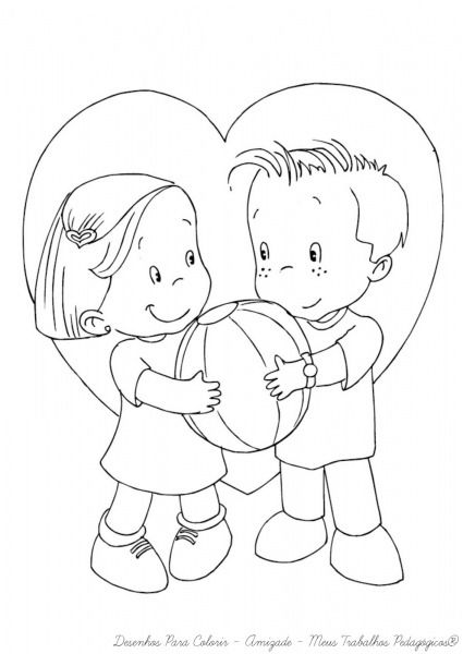 Desenhos Para Colorir Sobre A Amizade A Pampekids Net Com