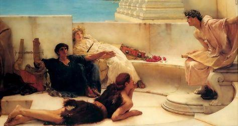 A Reading from Homer Lawrence Alma Tadema