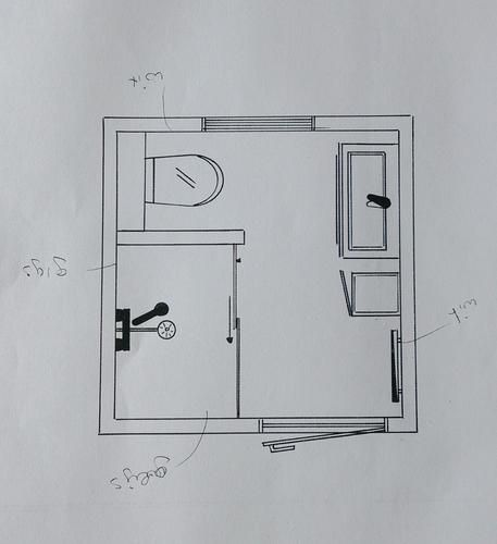 Verbouwing Badkamer 2x2 Badkamer 2x2 Badkamer Badkamer Plattegrond