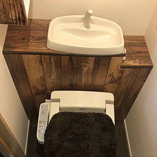 バス トイレ タンクレス風トイレ ダイソー アンティーク 100均 など