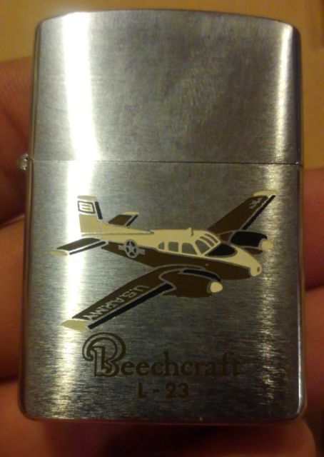 This Is A Rare Beauty It Is An Unused Us Army Beechcraft L 23 Airplane Zippo Lighter Made In 1958 Has Original Insert Box And Paperwork It I Zippo Us Army Army