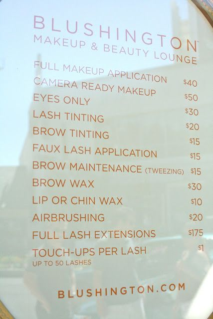 Best  Salon Menu Ideas On   Beauty Price List Ideas