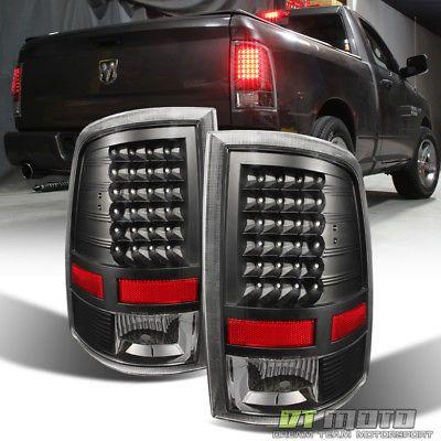 """Black 2013-2018 Dodge Ram /""""Light Tube/"""" LED Tail Brake Lamps 13-18 Left+RIght"""