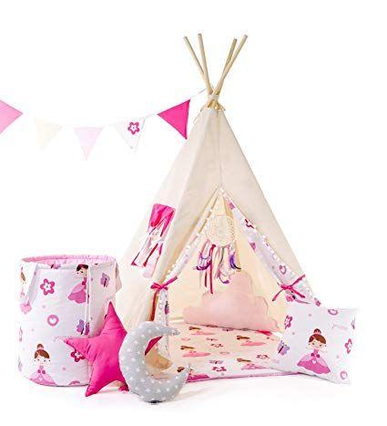 Kinder Teepee Tipi Set für Kinder Spielzeug drinnen draußen ...