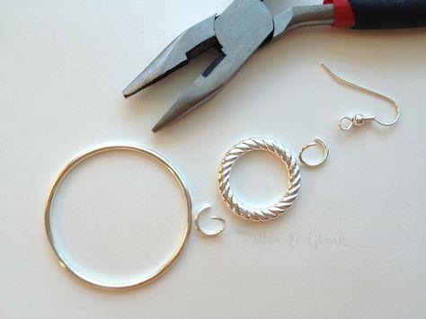 PitterAndGlink: {Simple, DIY Silver Earrings}