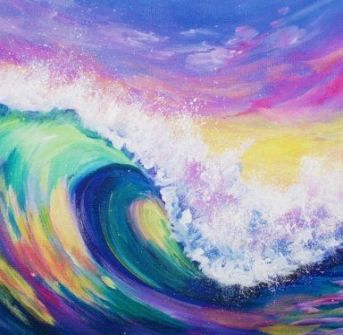 53 Ideas For Painting Inspiration Acrylic Water Acrylic Painting Inspiration Sunset Painting Acrylic Colorful Paintings Acrylic