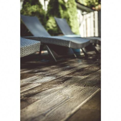 75 sq. ft. Barnwood Plank Patio-On-A-Pallet Paver Set in ...